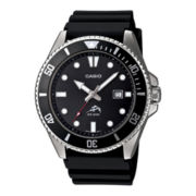 Casio® Mens Black Resin Strap Watch