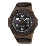Casio® Mens Brown Resin Strap Solar Watch