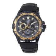 Casio® Mens Black Resin Strap Watch