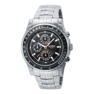 jcpenney.com | Casio® Mens Stainless Steel Aviator-Style Chronograph Watch MTP4500D-1AV