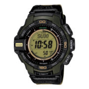Casio® Pro Trek Tough Solar Triple Sensor Mens Aviator-Style Watch PRG270B-3CR