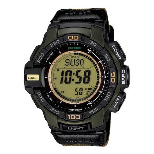 Casio® Pro Trek Tough Solar Triple Sensor Mens Aviator-Style Watch PRG270B-3CR