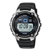 Casio® Mens Black Resin Strap Solar Sport Watch