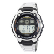 Casio® Mens Gray Resin Strap Solar Sport Watch