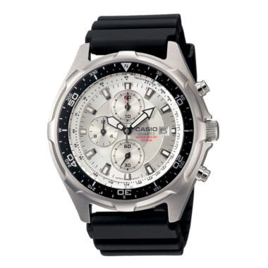 jcpenney.com | Casio® Mens Black Resin Strap Chronograph Watch AMW330-7AV