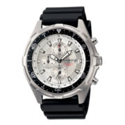 Casio® Mens Black Resin Strap Chronograph Watch AMW330-7AV