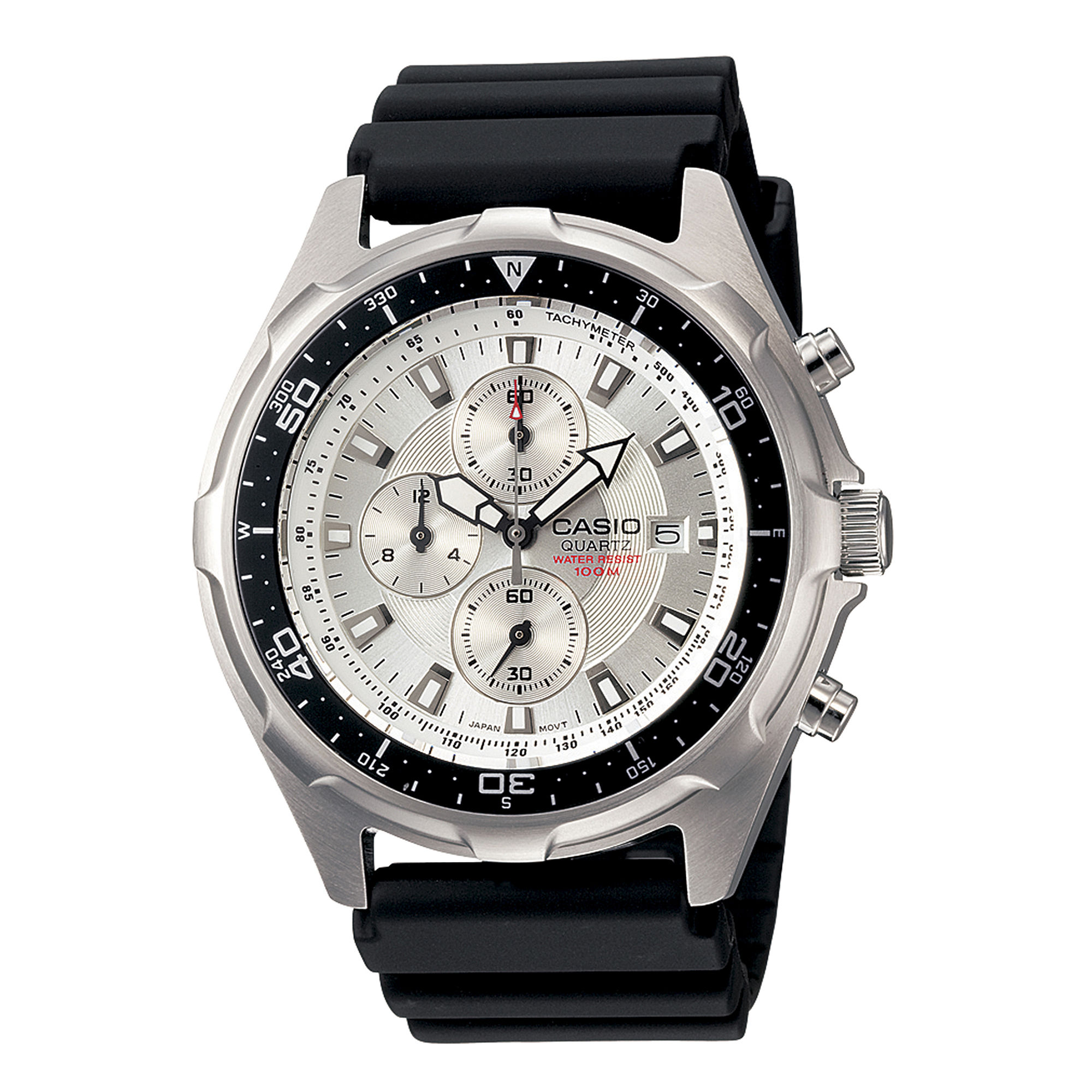 Casio Mens Black Resin Strap Chronograph Watch AMW330-7AV