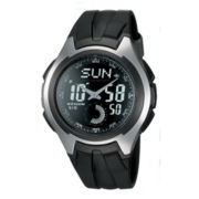 Casio® Mens Black Resin Strap Analog/Digital Watch
