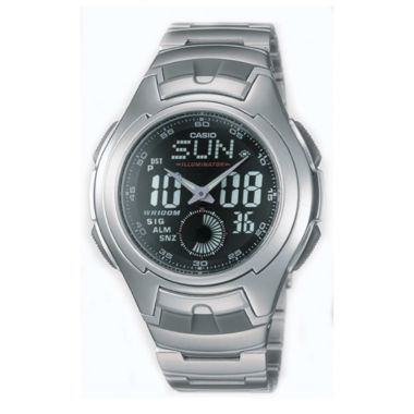 jcpenney.com | Casio® Mens Stainless Steel Analog/Digital Watch AQ160WD-1BV