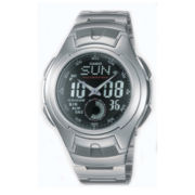 Casio® Mens Stainless Steel Analog/Digital Watch