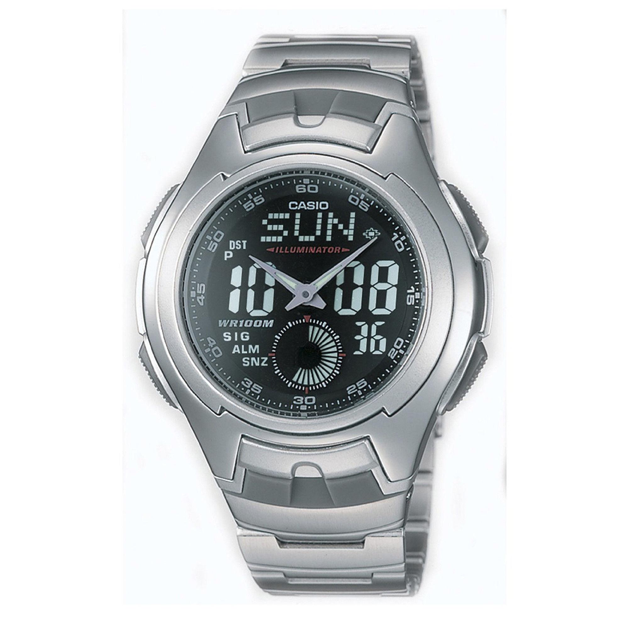 Casio Mens Stainless Steel Analog/Digital Watch AQ160WD-1BV