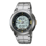 Casio® Forester Mens Thermometer Stainless Steel Analog/Digital Watch