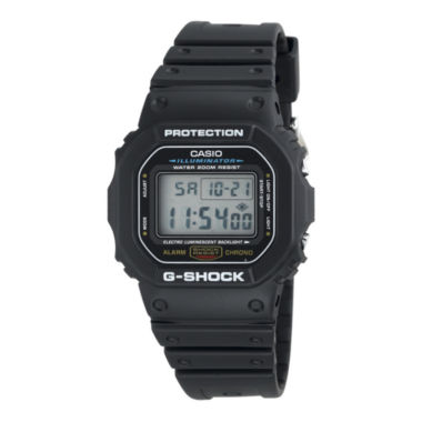 jcpenney.com | Casio® G-Shock Mens Black Resin Strap Sport Watch DW5600E-1V