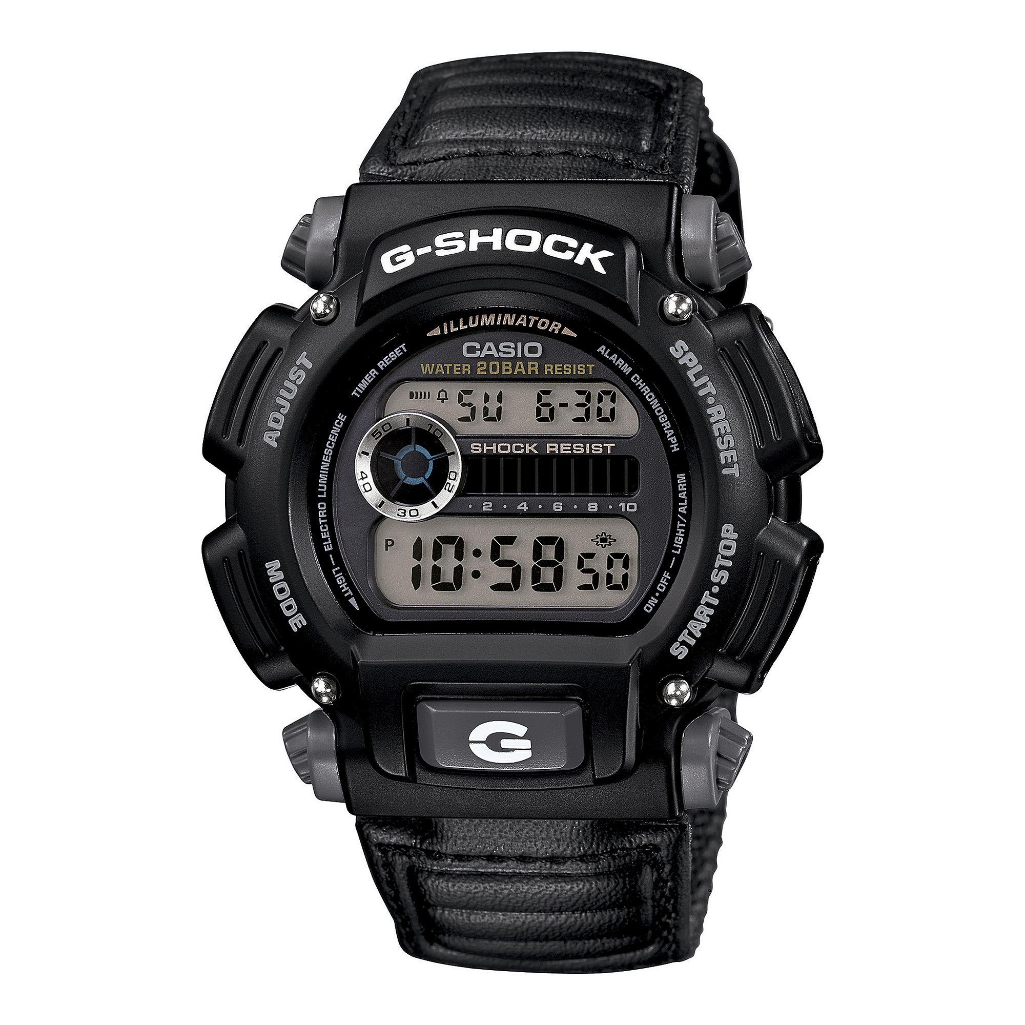 Casio G-Shock Mens Black Nylon Strap Sport Watch DW9052V-1