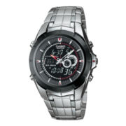 Casio® Edifice Mens Stainless Steel Analog/Digital Watch EFA119BK-1AV