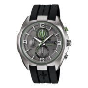 Casio® Edifice Active Racing Mens Black Resin Strap Chronograph Watch