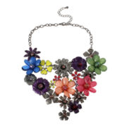 Mixit™ Multicolor Flower Bib Necklace