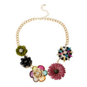 Mixit™ Multicolor Flower Statement Necklace