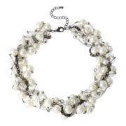 Mixit™ Multi-Row Simulated Pearl Chain-Twist Necklace