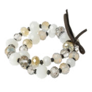 Mixit™ White and Clear 2-pc. Stretch Bracelets