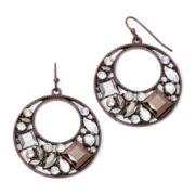 Arizona Crystal Gypsy Hoop Earrings