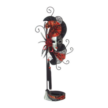 jcpenney.com | Mardi Gras Mask Red & Black Jewelry Stand Organizer