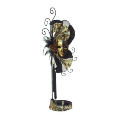 jcpenney.com | Mardi Gras Mask Black, Gold & Brown Jewelry Stand Organizer