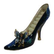 Blue Butterfly Shoe Ring Holder