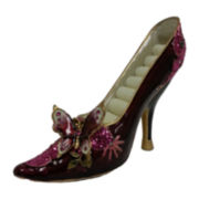 Burgundy Butterfly Shoe Ring Holder