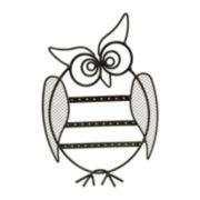Black Owl Earring Holder