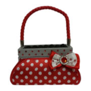 Red & White Polka Dot Purse Ring Holder