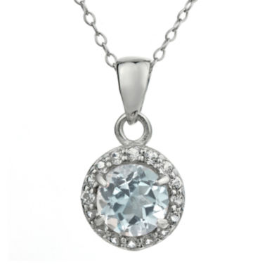 jcpenney.com | Faceted Genuine White Topaz Sterling Silver Pendant Necklace