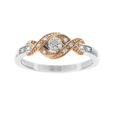jcpenney.com | 1/10 CT. T.W. Diamond 10K Two-Tone Gold Promise Ring