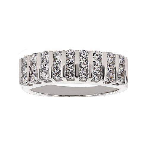 DiamonArt® Cubic Zirconia Sterling Silver Band