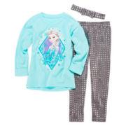 Disney Frozen 3-pc. Top, Leggings and Headband Set - Girls 4-6x