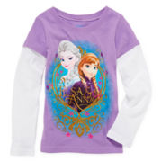 Disney Frozen Sisters Doubler Tee - Girls 4-6x