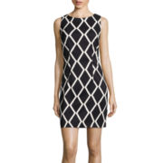Alyx® Sleeveless Diamond Print Sheath Dress