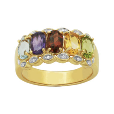 jcpenney.com | Multi-Gemstone and Diamond-Accent Ring