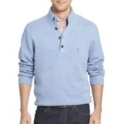 IZOD® Long-Sleeve Button Mockneck Sweater