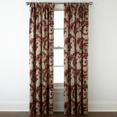 jcpenney.com | Home Expressions™ Tuscany Scroll Room-Darkening Rod-Pocket Curtain Panel