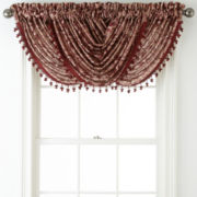 Royal Velvet® Hilton Damask Waterfall Rod-Pocket Valance