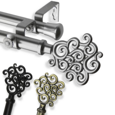 "jcpenney.com | Tidal 13/16"" Adjustable Curtain Rod Collection"