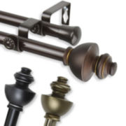 "Dynasty 13/16"" Adjustable Curtain Rod Collection"