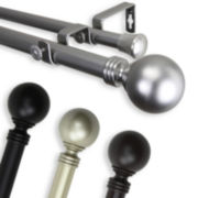 "Globe 1"" Adjustable Curtain Rod Collection"