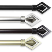 "Lenore 1"" Adjustable Curtain Rod Collection"