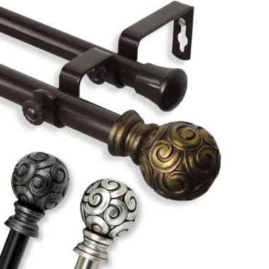 "jcpenney.com | Bonbon 13/16"" Adjustable Curtain Rod Collection"