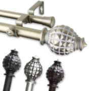 "Opal 1"" Adjustable Curtain Rod Collection"