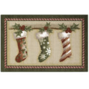 Holiday Stockings Rectangular Rug