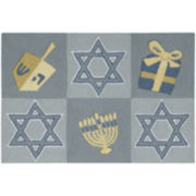 Nourison® Hanukkah Hand-Hooked Rectangular Rug