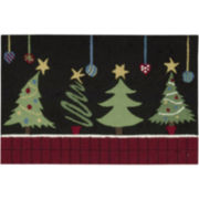 Nourison® Christmas Tree Hand-Hooked Rectangular Rug